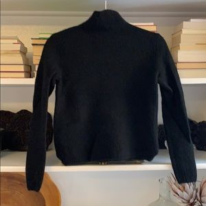 Theory cashmere ribbed cashmere mock neck sweater